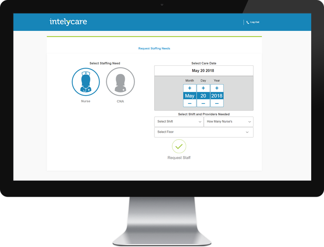 Intelycare On Demand Healthcare Staffing Solution